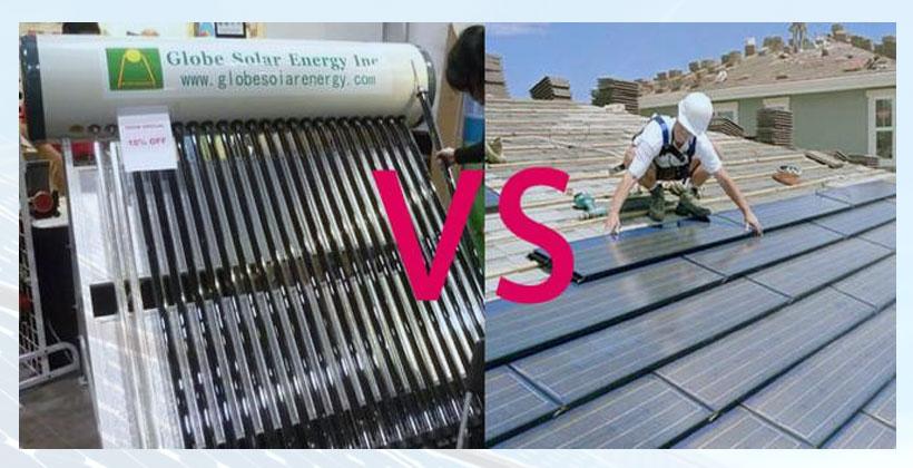Perbedaan panel surya dengan solar water heater